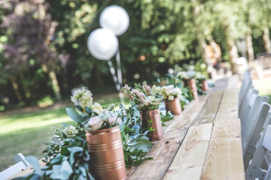 vin d'honneur mariage nature