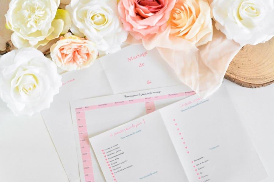 Planning jour du mariage