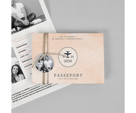 mariage voyage papeterie