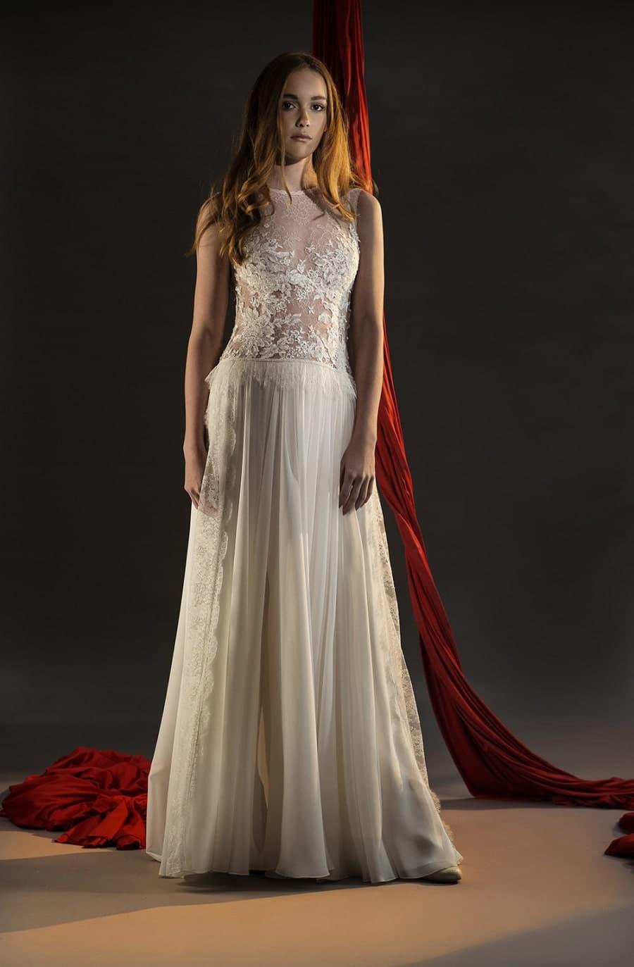 robe de mariée bustier translucide nicolas fafiotte