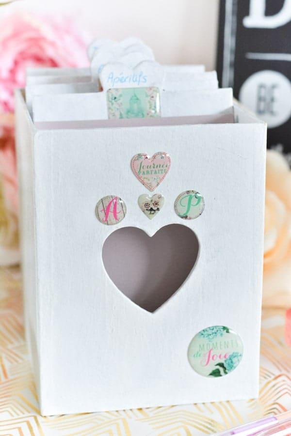 boîte recette cadeau mariés-blog mariage