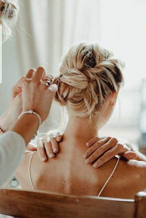 chignon mariée coiffure tendance