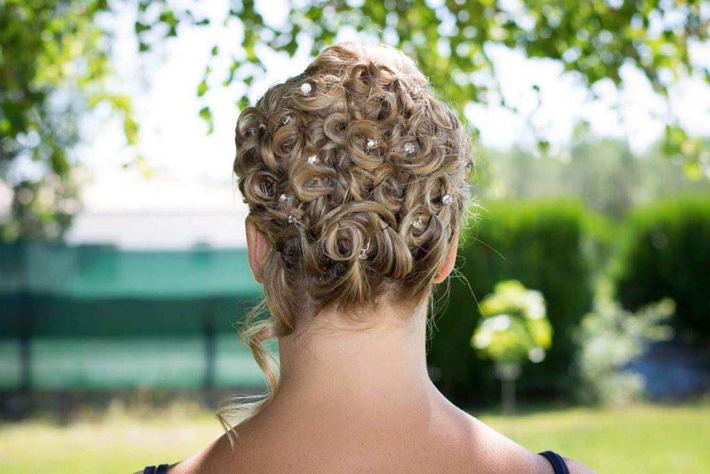 coiffure mariée chignon original torsades