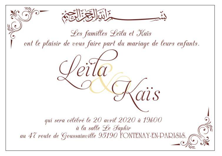 invitation mariage oriental
