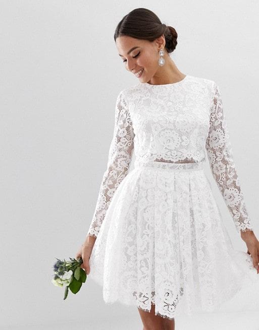 robe de mariée courte genou