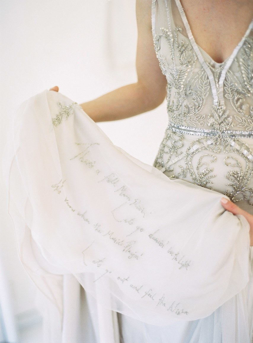 robe mariage personnalisée brodée