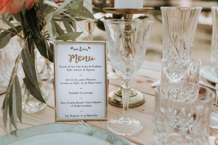 décoration table elopement
