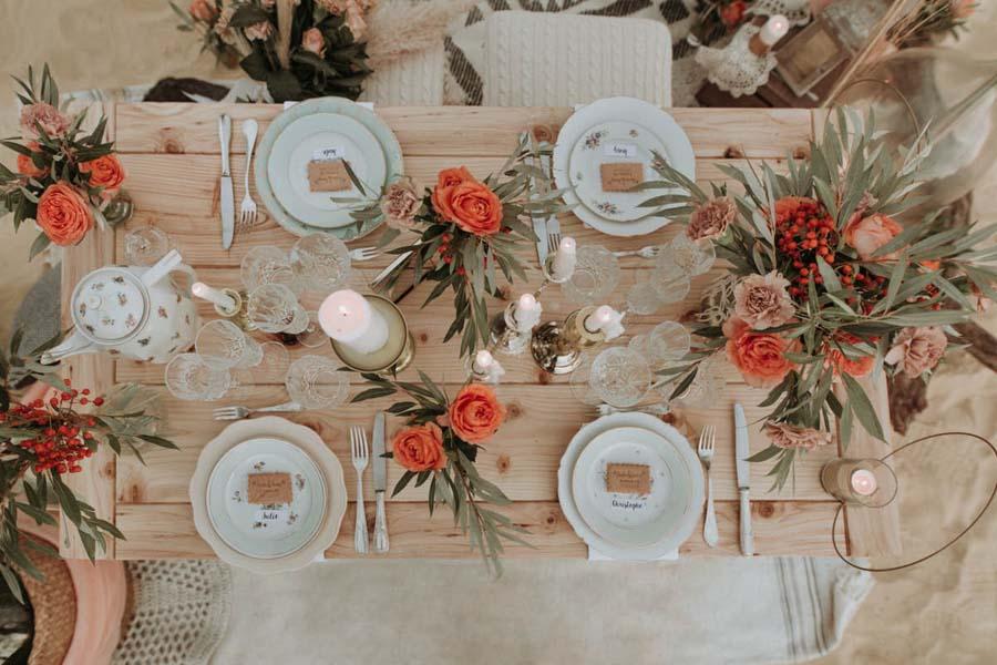 table elopement décoration