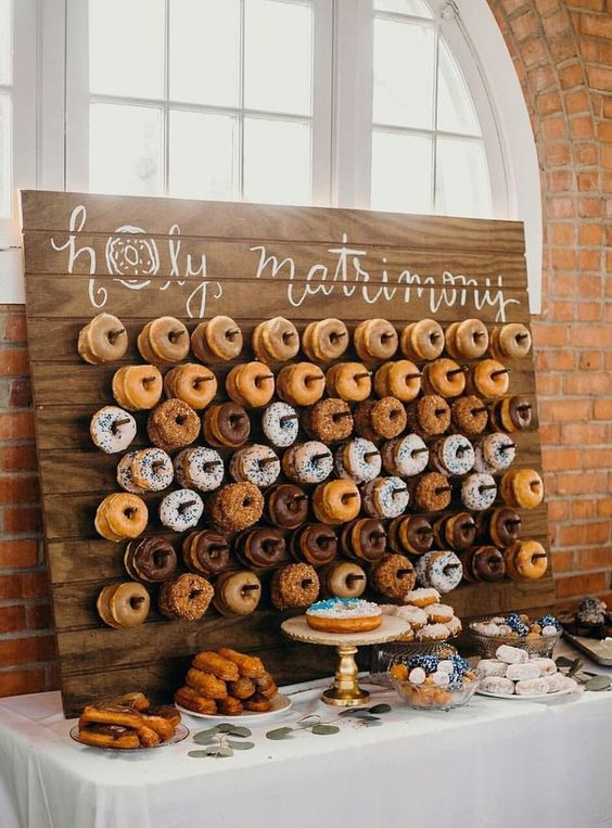 bar donuts mariage