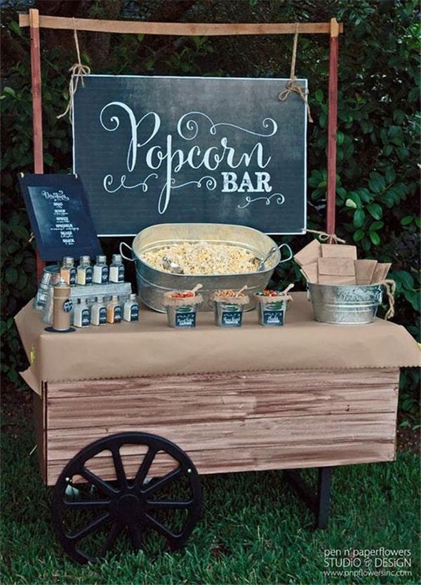 bar popcorn mariage