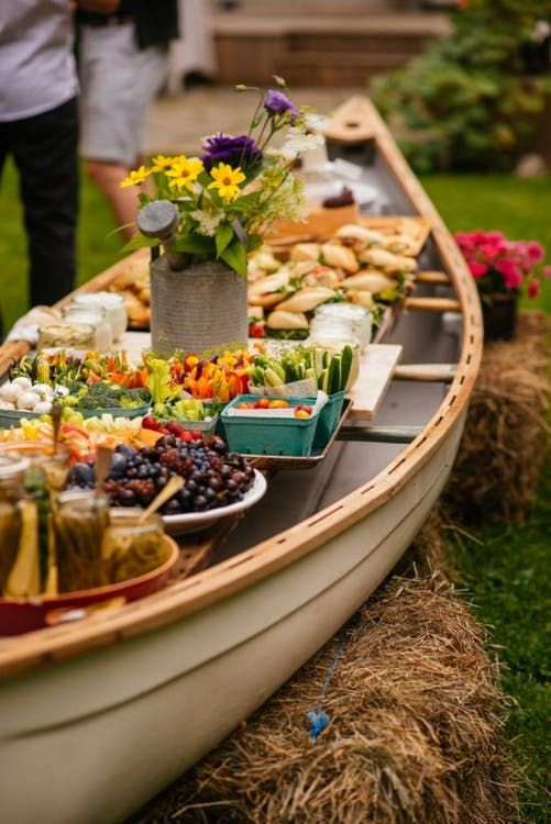 barque buffet mariage