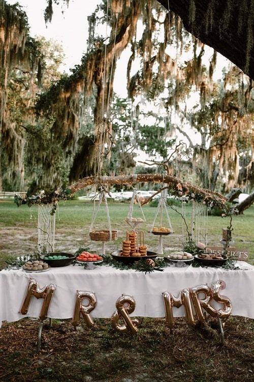buffet mariage arbre