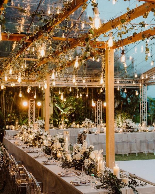 décoration mariage lumière