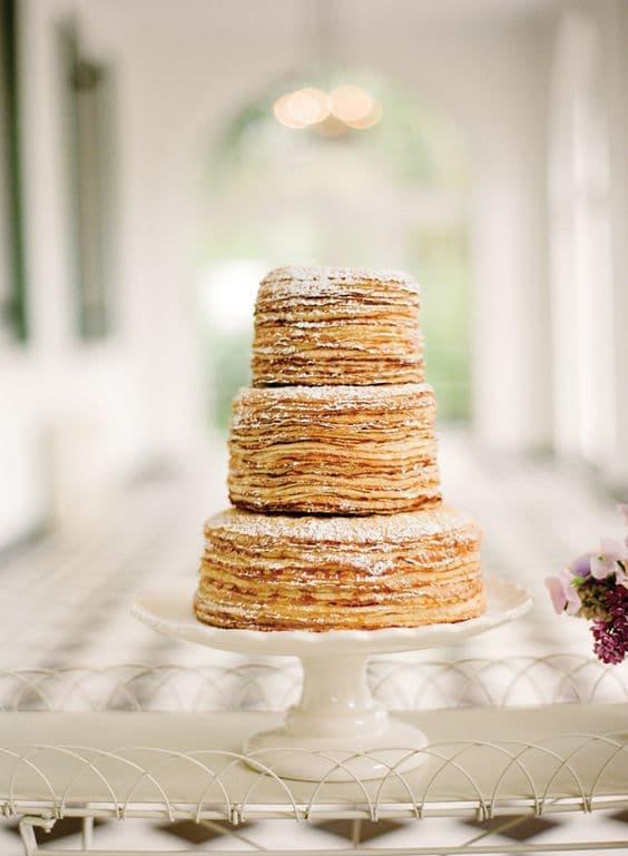gâteau de crêpes mariage