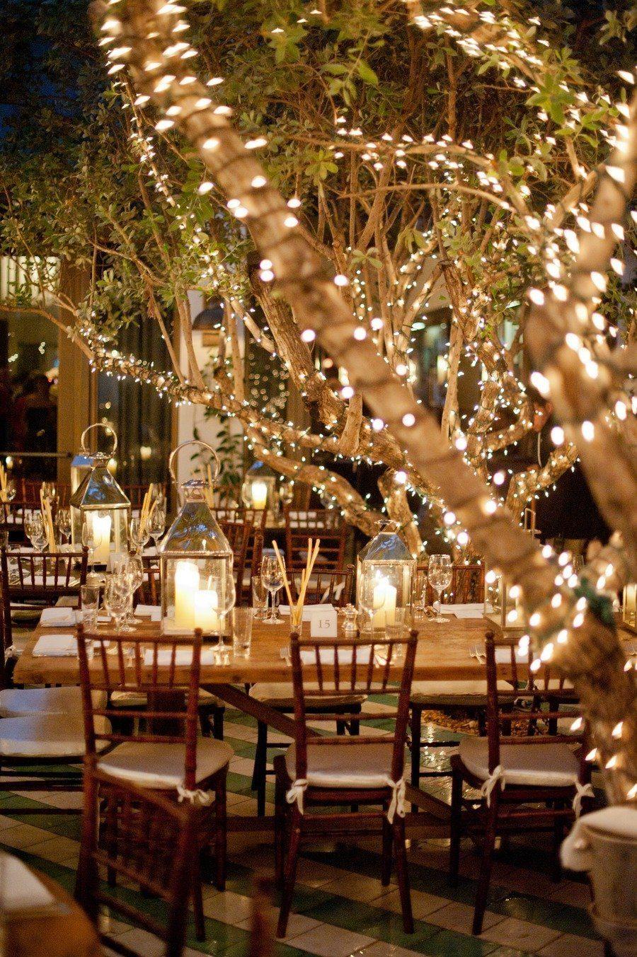 Idee Deco Guirlande Exterieur décoration mariage : la lumière du jour j - la mariée en colère