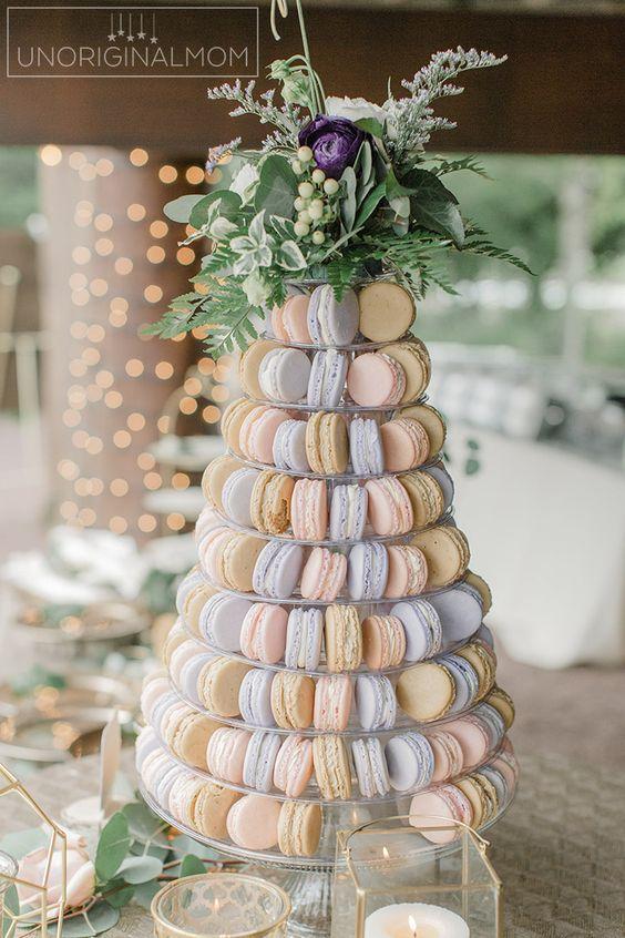 tour macarons dessert mariage original