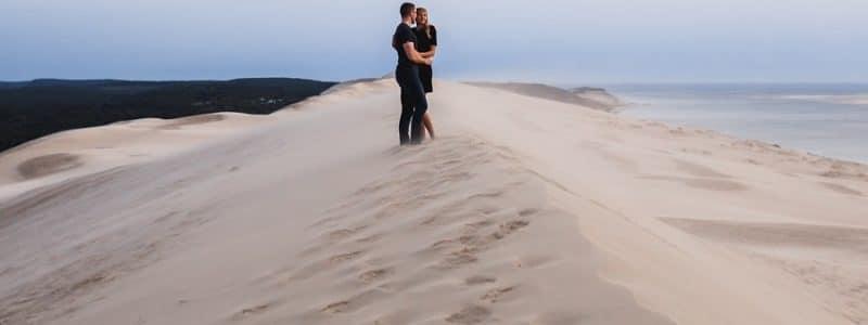 séance engagement mariage dune du pyla