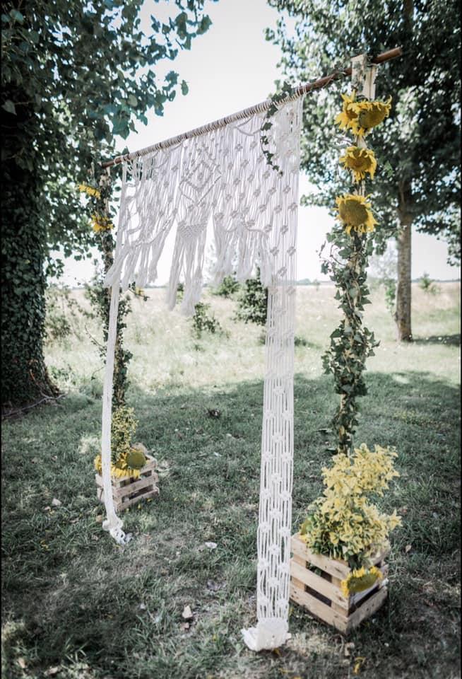 DIY arche cérémonie laïque mariage