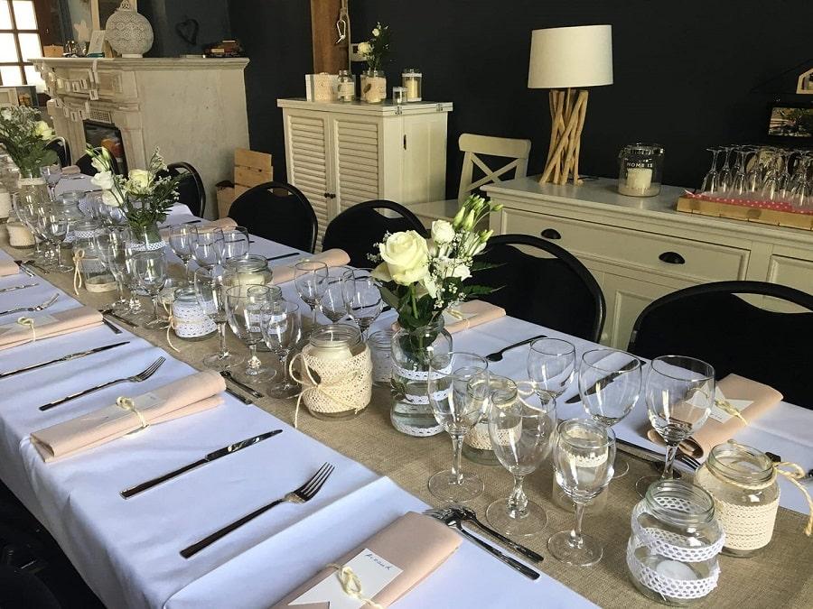 DIY bougeoirs vases mariage