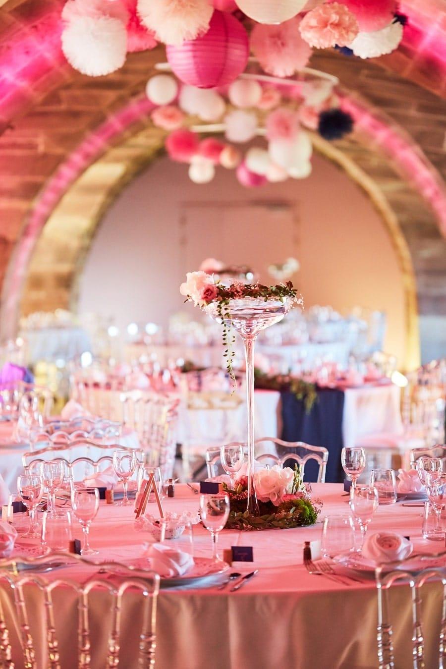 DIY décoration mariage rose