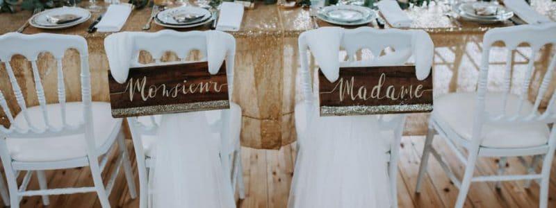 DIY décortion chaises mariés