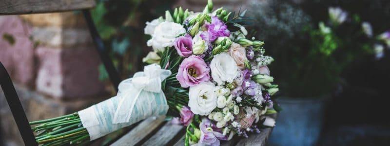 bouquet mariée champêtre violet