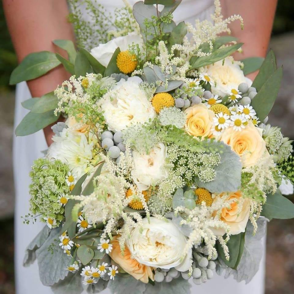 bouquet mariée champêtre éclaté