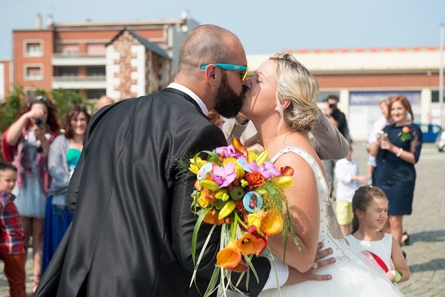bouquet mariée jaune orange