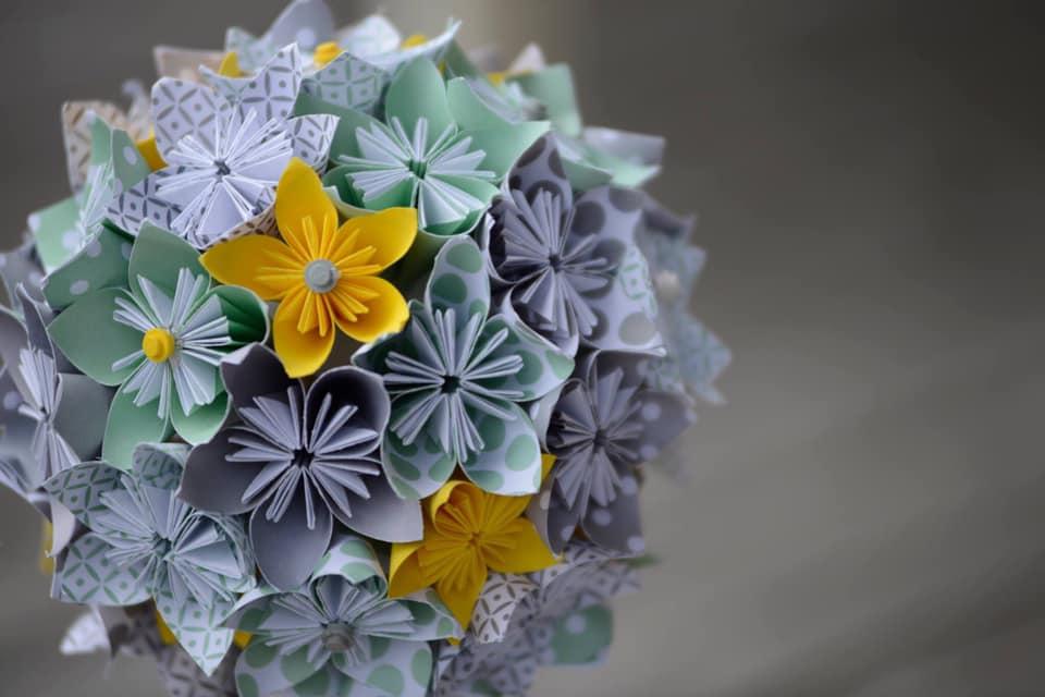 fleurs origami décoration mariage DIY
