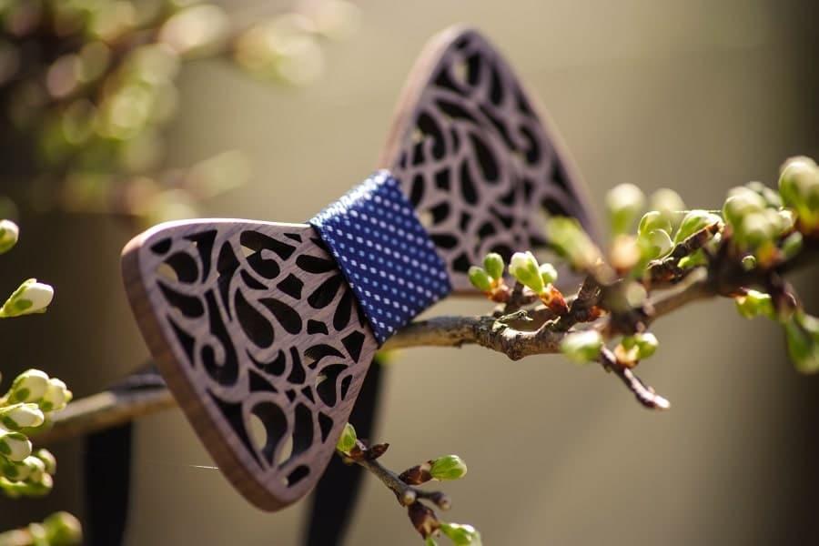 noeud papillon bois mariage