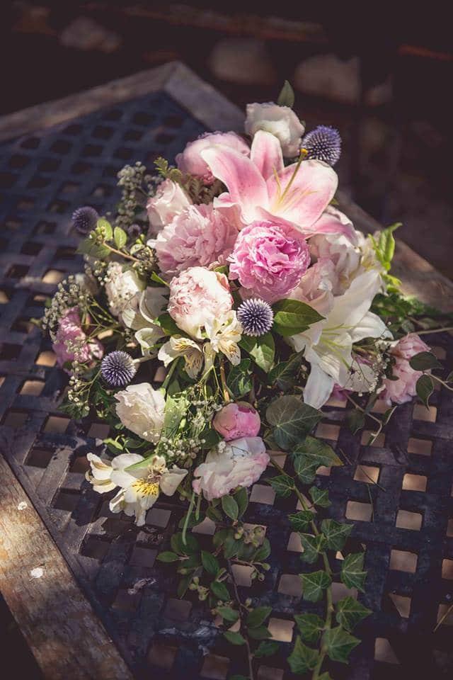 bouquet cascade mariage