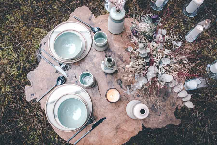 décoration table mariage nature