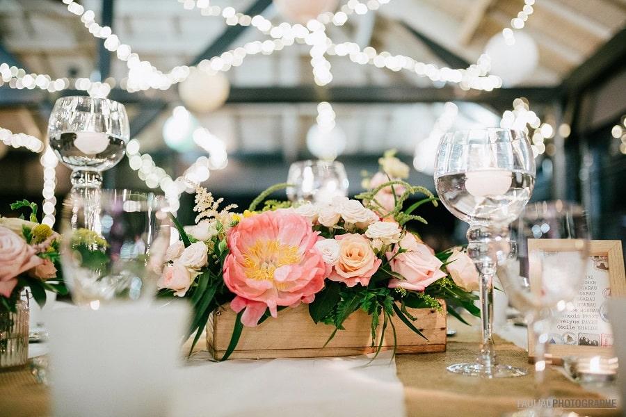 centre de table mariage voyages