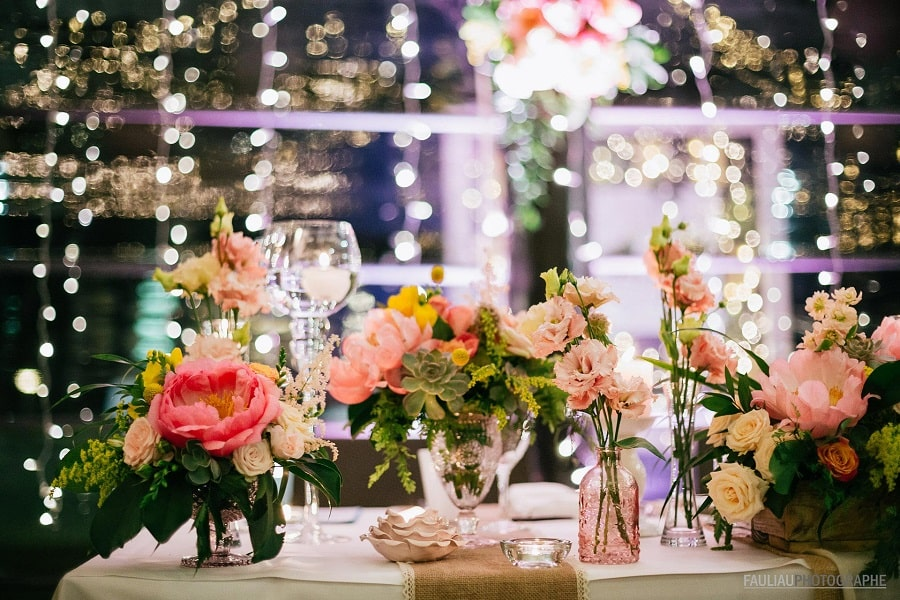 mariage thème voyages décoration