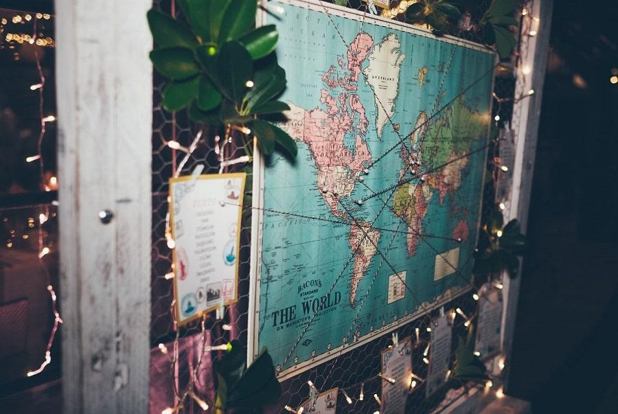 plan de table carte mariage voyages