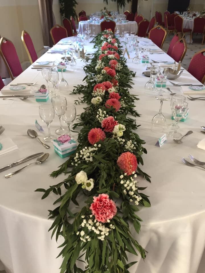 thème mariage romantique chic centre de table