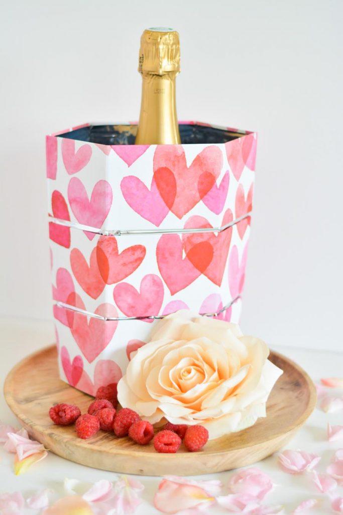 vase seau champagne origami