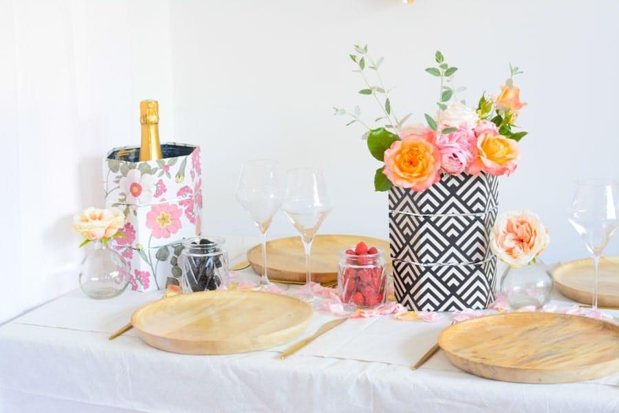 décoration mariage vase pliable