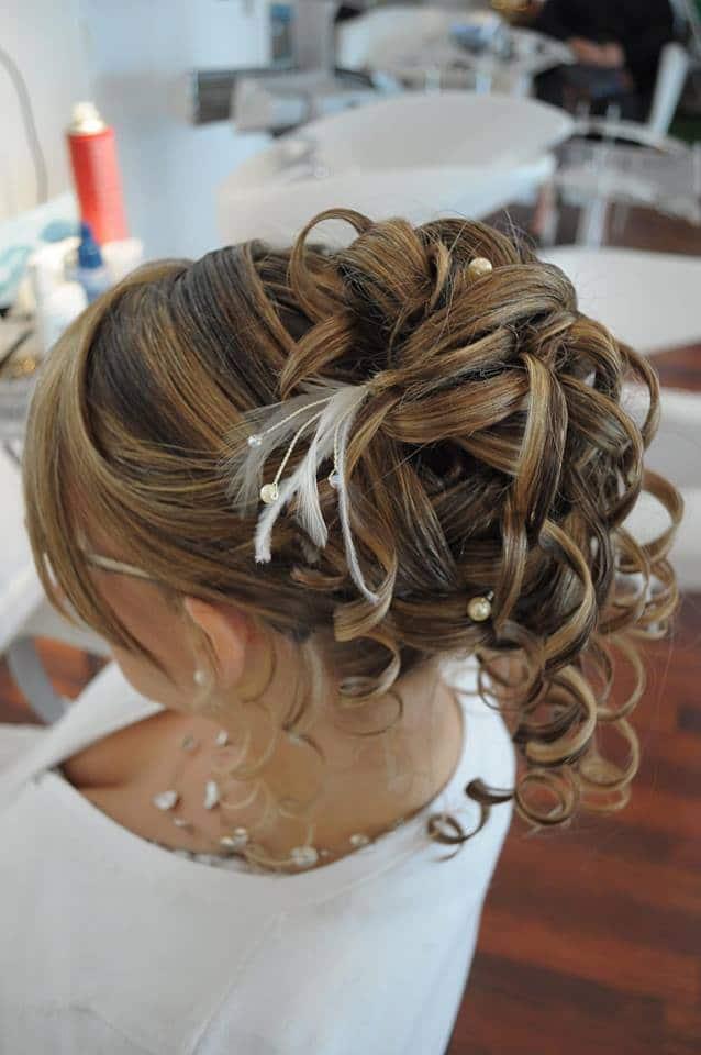 chignon mariée classique