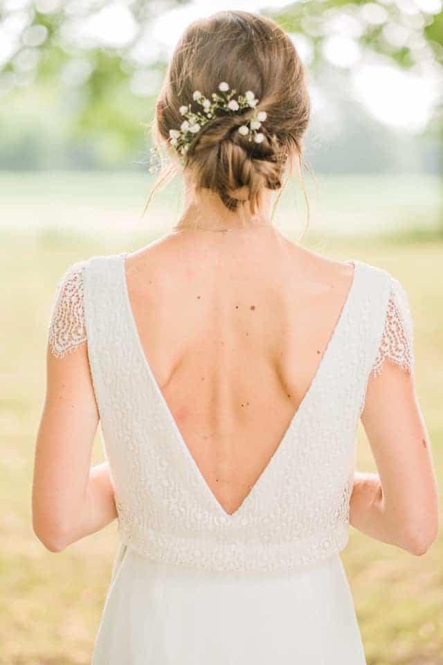 chignon mariée champêtre