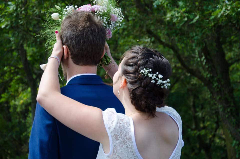 chignon mariée tresse