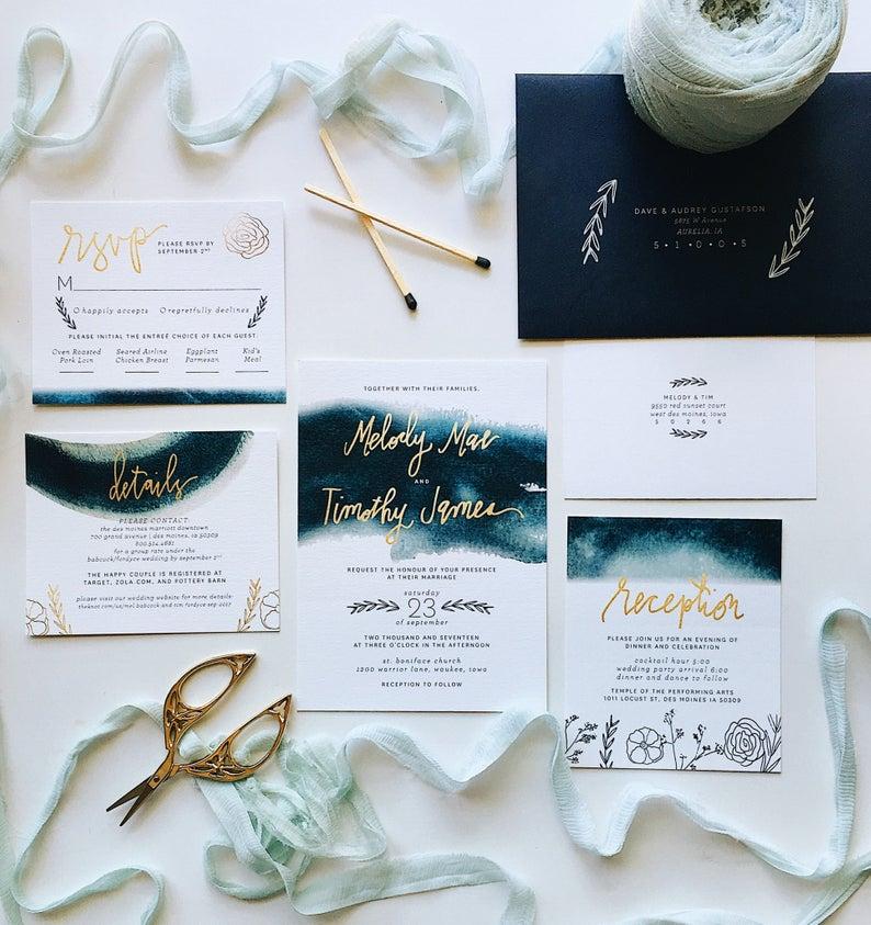 papeterie mariage aquarelle