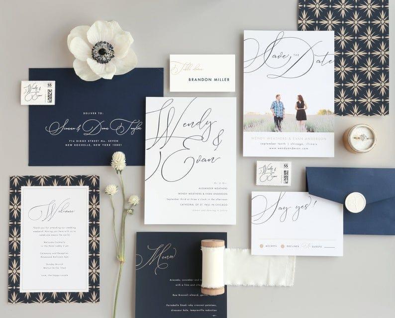 tendance invitation mariage 2020