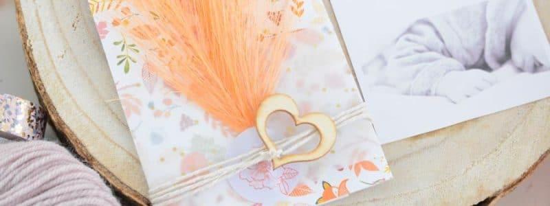 DIY faire part naissance maison