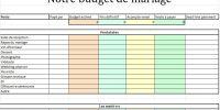 {Outil} Tableau EXCEL pour votre budget de mariage