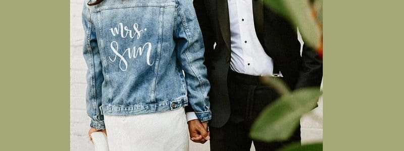 veste jean mariage
