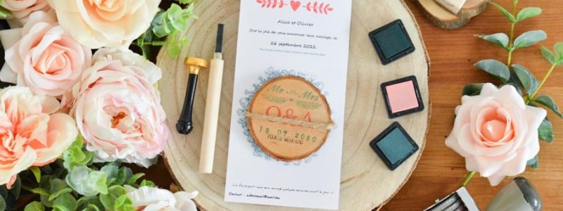 blog DIY save the date aimant bois mariage