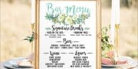 20 idées pour présenter le menu de votre cocktail de mariage