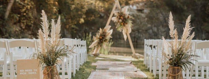 décoration mariage fleurs séchées