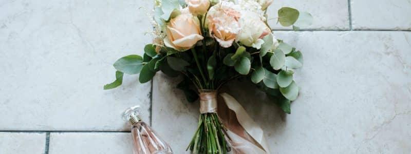 white and green flower arrangement